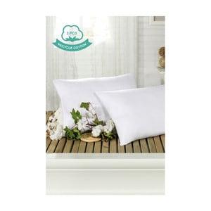 Sada 2 bílých povlaků na polštáře Hurga Puro, 50 x 70 cm