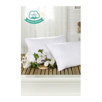 Set 2 fețe de pernă din bumbac Hurga Puro, 50 x 70 cm, alb imagine