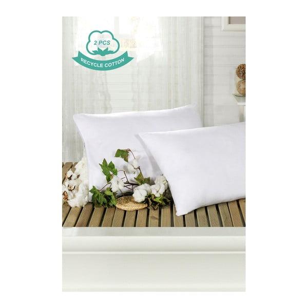 Sada 2 bielych bavlnených obliečok na vankúše Hurga Puro, 50×70 cm