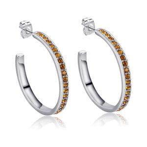 Kruhové náušnice se žlutými krystaly Swarovski Elements Crystals Nina