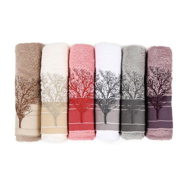 Sada 6 ručníků z bavlny Asorti, 50 x 90 cm