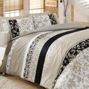 Lenjerie de pat și cearșaf şi 2 feţe de pernă Deborah, 200x220cm