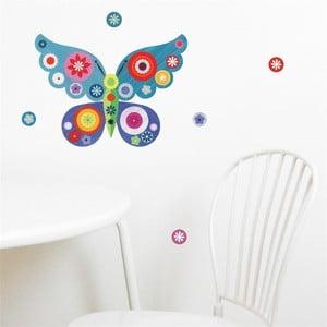 Modrá nástěnná samolepka Chocovenyl Butterfly