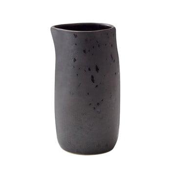 Latieră din ceramică Bitz Basics Black, 0,2 l, negru