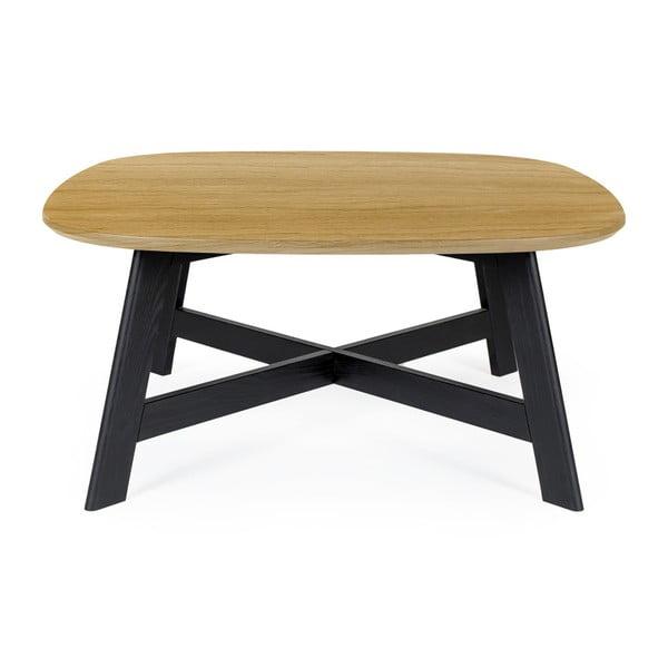 Keeni dohányzóasztal tölgyfa asztallappal, hossz 80 cm - Askala