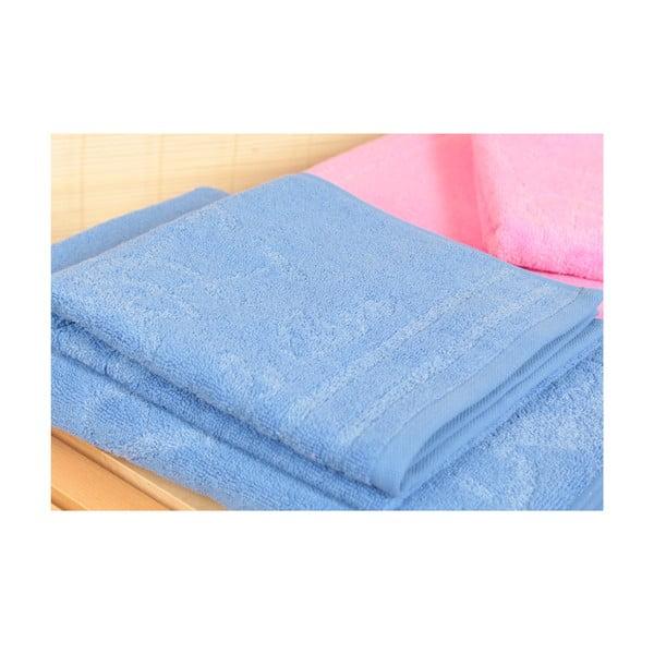 Sada 4 osušek a koupelnové předložky U.S. Polo Assn. Family Blue