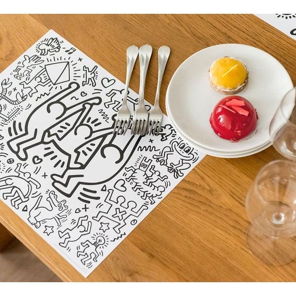 Prostírání jako omalovánka OMY Keith Haring, 24 ks