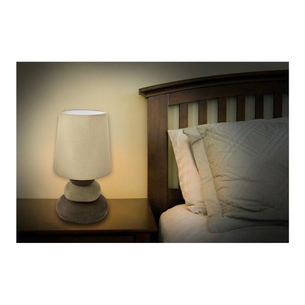Béžová stolní lampa Naeve Stoff