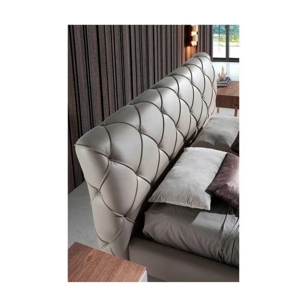 Béžová dvoulůžková postel Ángel Cerdá Base, 180 x 200 cm