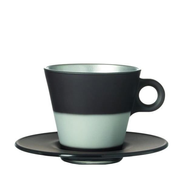 Šedý metalický hrnek na cappuccino měnící barvu LEONARDO Ooh! Magico