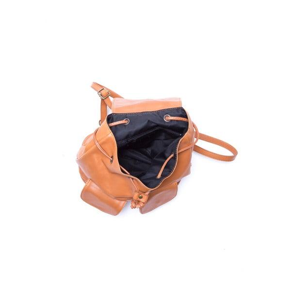 Kožený batoh Isabella Rhea 2127 Cognac