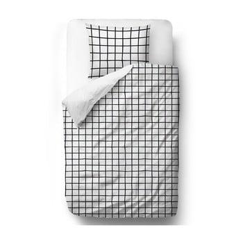 Lenjerie de pat din bumbac satinat Butter Kings Simple Checkers, 135 x 200 cm