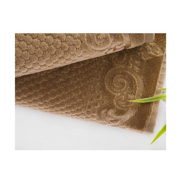 Sada 2 ručníků Acustic Light Brown, 50x90 cm a 70x140 cm