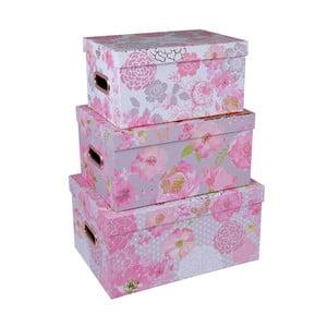 Sada 3 boxů s držadly Tri-Coastal Design Lovely Garden
