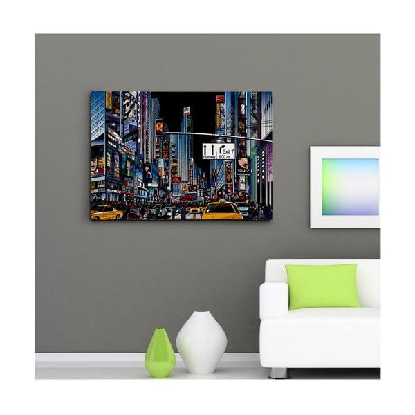 Obraz na plátně Ilustrovaný Time Square II, 50x70 cm