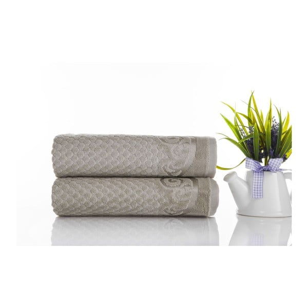 Sada 2ks ručníků Acustic Water Green, 50x90 cm