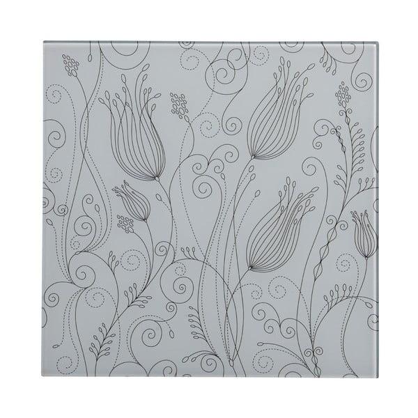 Skleněný obraz White Tulip, 30x30 cm