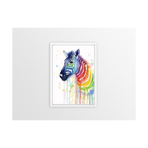 Rainbow Zebra poszter - Piacenza Art