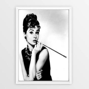 Poster cu ramă Piacenza Art Audry Smoking, 30 x 20 cm imagine