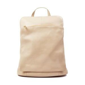 Světle béžová kožený batoh Isabella Rhea Turo