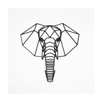 Decorațiune de perete Elephant, 39 x 65 cm, negru imagine