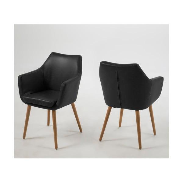 Nora fekete fotel - Actona