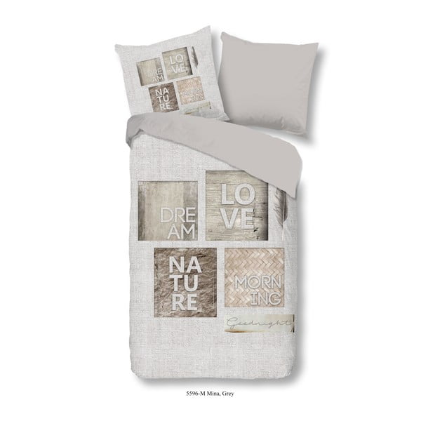Pościel jednoosobowa z mikroperkalu Muller Textiels Mina, 140x200 cm