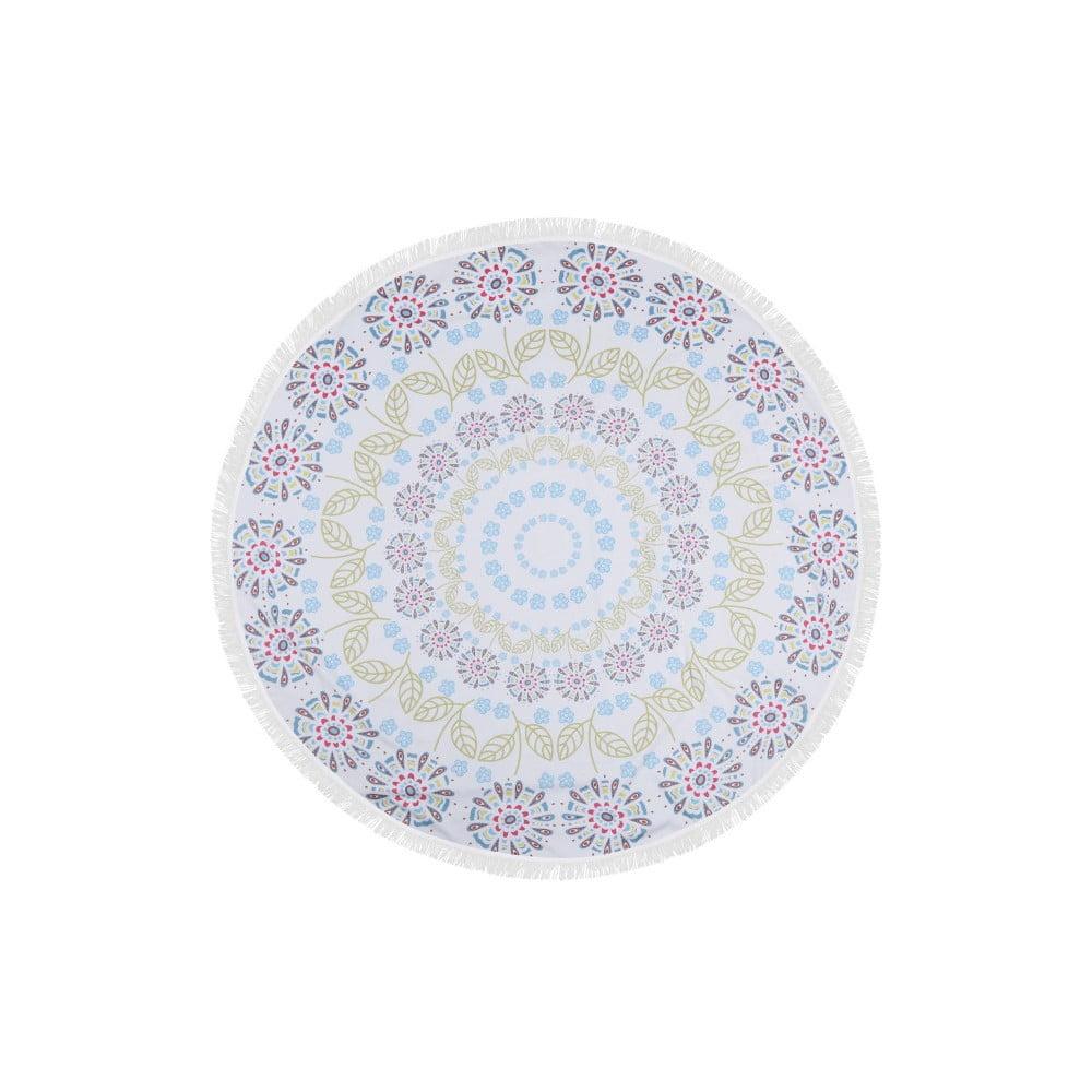Barevná plážová osuška z bavlny Buble, ⌀ 150 cm
