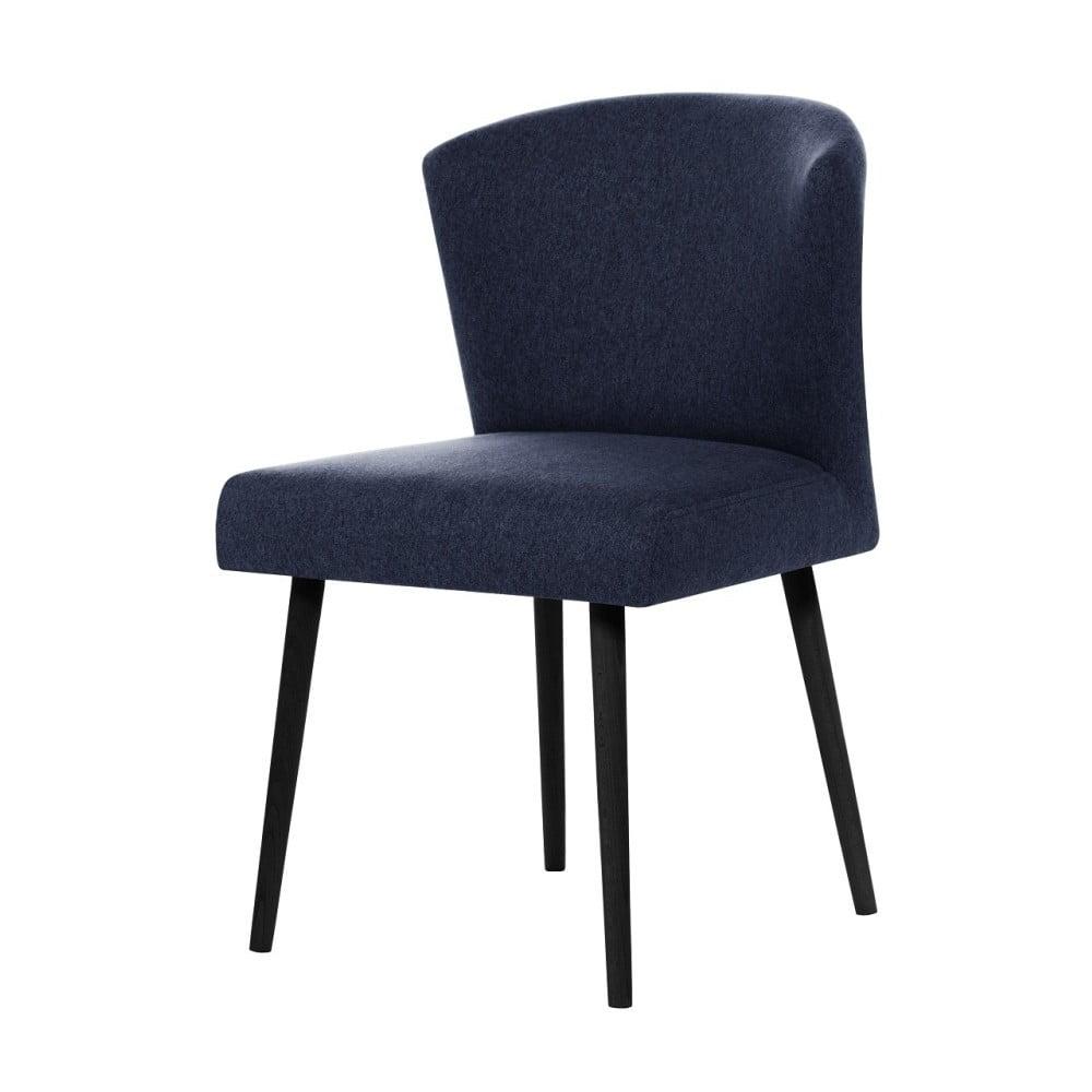 Tmavě modrá jídelní židle s černými nohami My Pop Design Richter