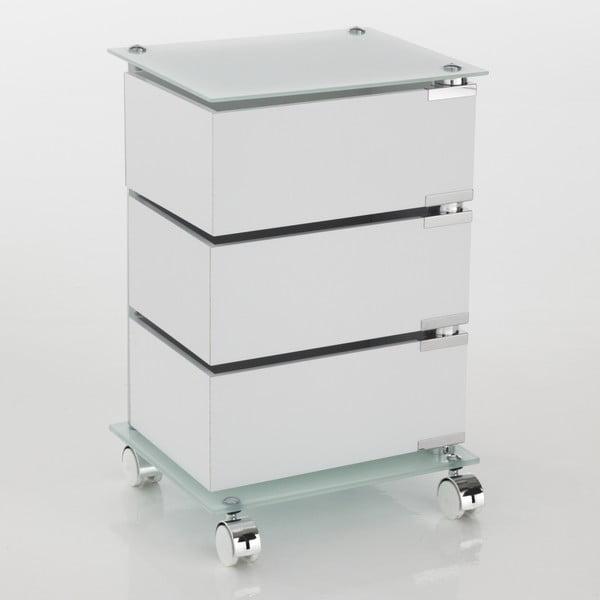 Biały wózek na kółkach z 3 szufladami Tomasucci Bobo