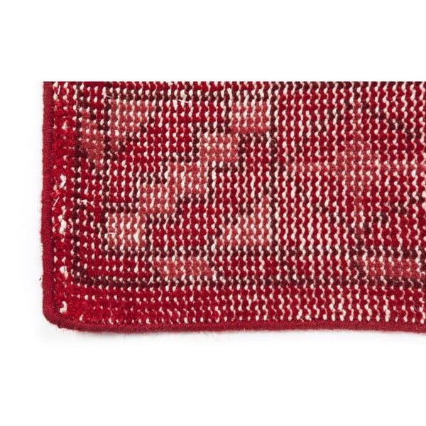 Červený ručně vázaný vlněný koberec Linie Design Sentimental,140x200cm