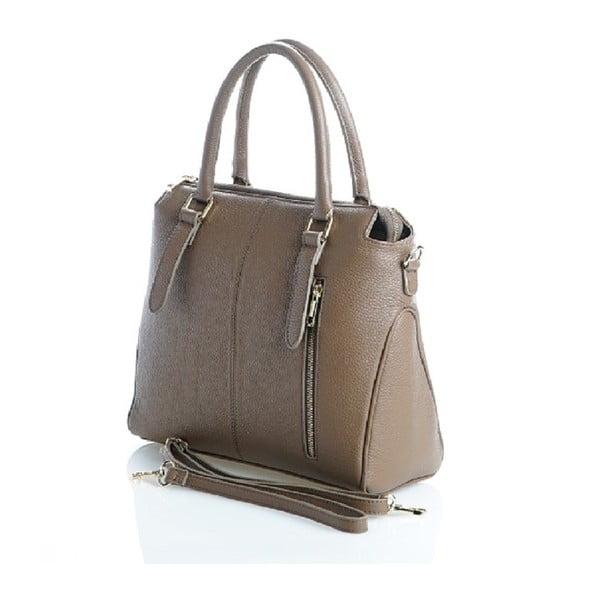 Kožená kabelka Konstanc, béžová