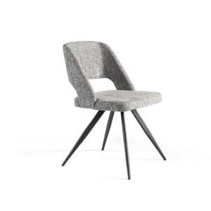 Šedá polstrovaná židle Ángel Cerdá Rotator