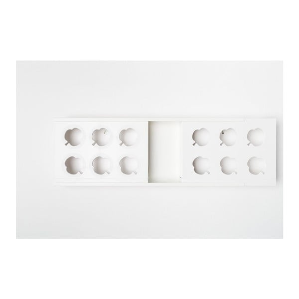 Vertikální květináč HOH! Duo White, 77x27,7 cm