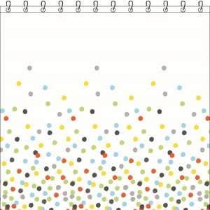 Sprchový závěs Sorema Confetti, 180x200 cm