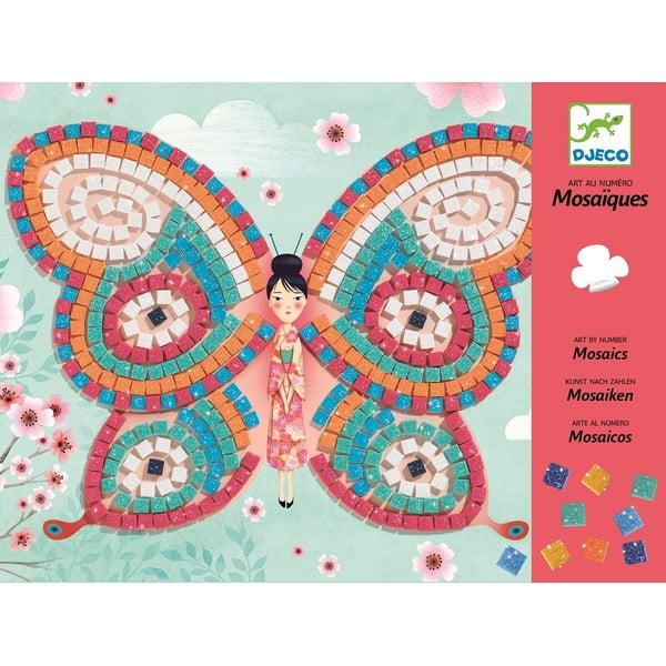 Csillogó pillangók kreatív készlet gyerekeknek - Djeco