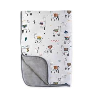 Dětská deka Little Nice Things Llamas, 170 x 130 cm
