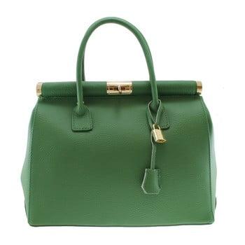 Geantă din piele Chicca Borse Blair, verde imagine