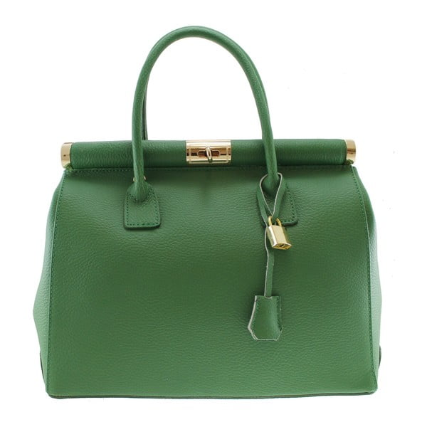 Zielona skórzana torba Chicca Borse Blair