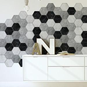 Set 28 autocolante Ambiance Hexagons Marble, 15 x 13,5 cm