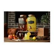 Sada 2 skleněná stáčecích nádob na limonádu Bambum, 3 l