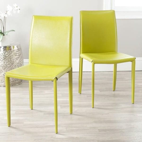 Set 2 židlí Caleb Lime