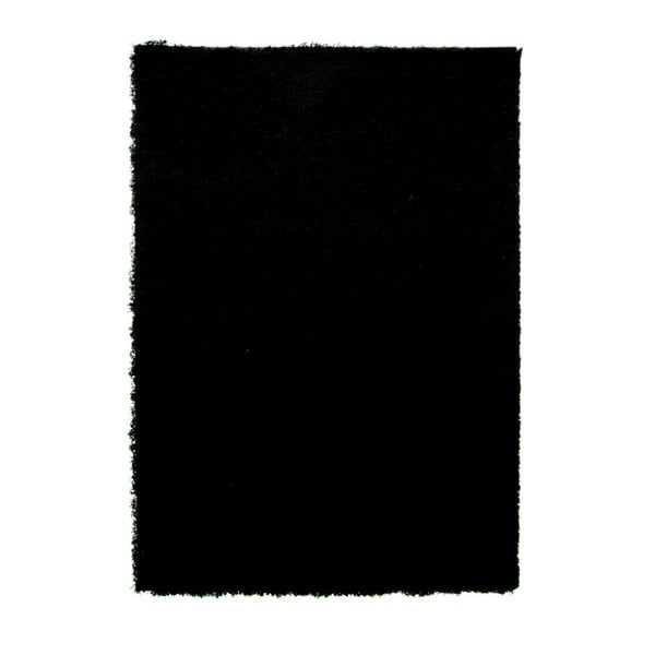 Černý koberec Flair Rugs Cariboo Black, 120x170cm