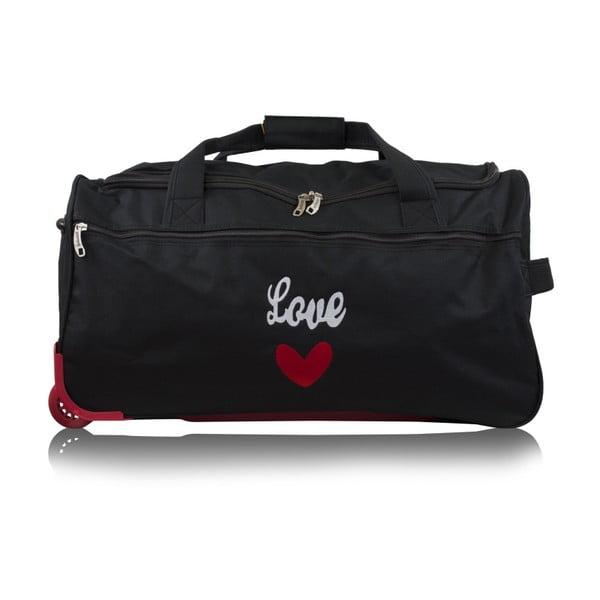 Černá cestovní taška na kolečkách Infinitif Ascot, 41l