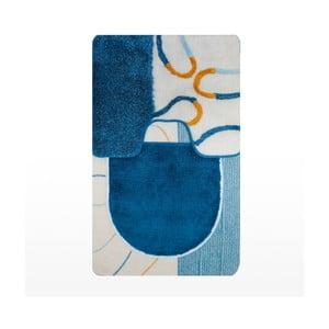 Set dvou podložek + potah na WC prkénko Janis Home, modrý