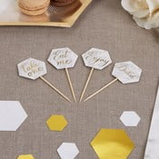 Sada 20 dekorativních párátek Neviti Scripted Marble Picks