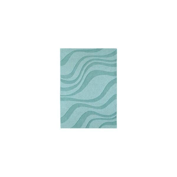 Vlněný koberec Aero Ocean, 90x150 cm