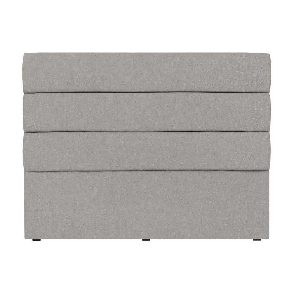 Světle šedé čelo postele Mazzini Sofas Pesaro, 140 x 120 cm
