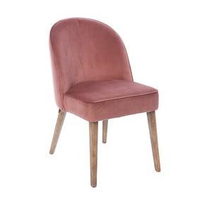 Růžová sametová židle Miloo Home Dean