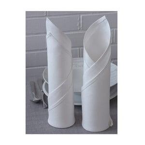 Sada 2 lněných ubrousků Spring 45x45 cm, bílá